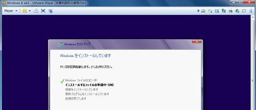 vmware OSインストール中