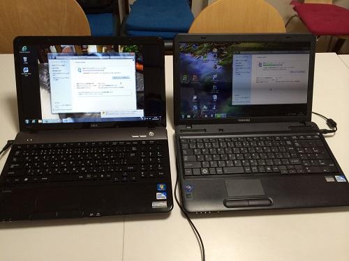 パソコン教室前のpcメンテナンス