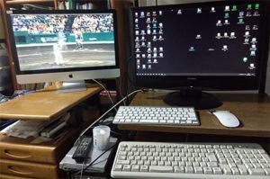 MacとWinのデュアルディスプレイ