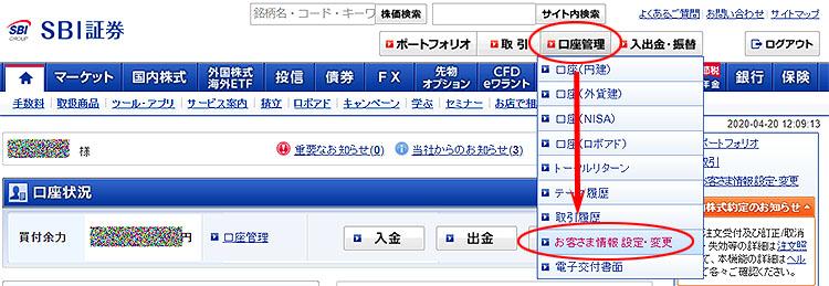 SBI証券TOP
