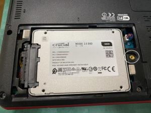 Qosmio SSD換装